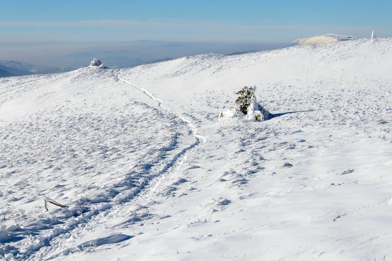 Montanha invernal foto de stock