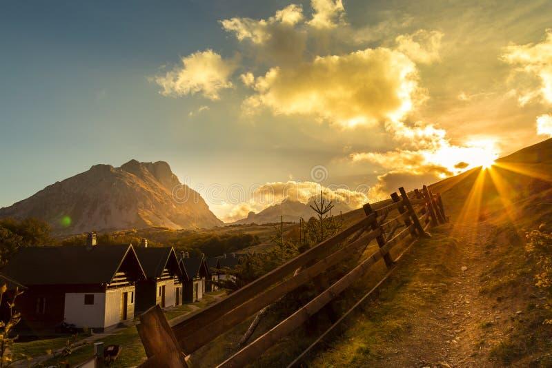 Montanha Komovi fotografia de stock