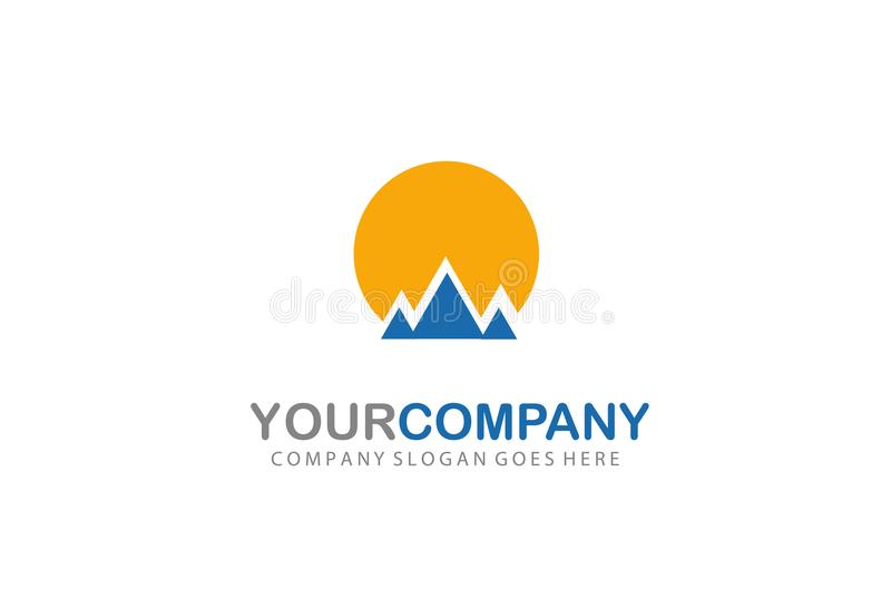 Montanha Logo Design Company Concept ilustração royalty free