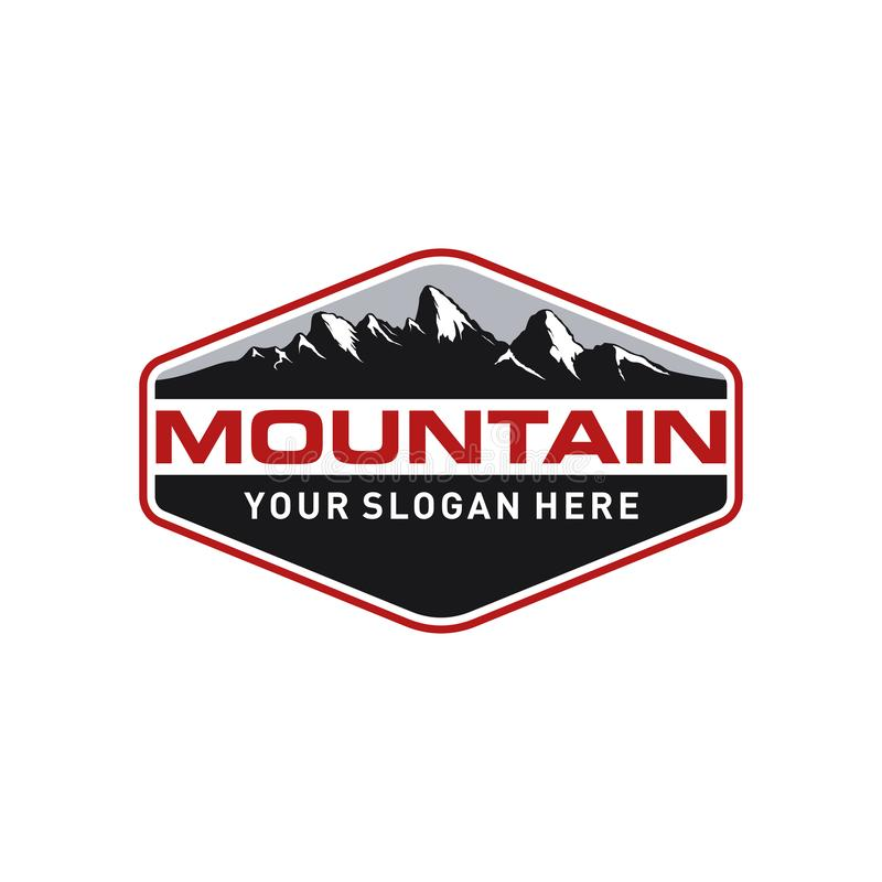 Montanha Logo Template do vintage ilustração do vetor