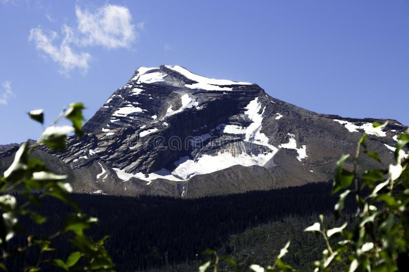 A montanha máxima do céu - parque nacional de geleira fotografia de stock