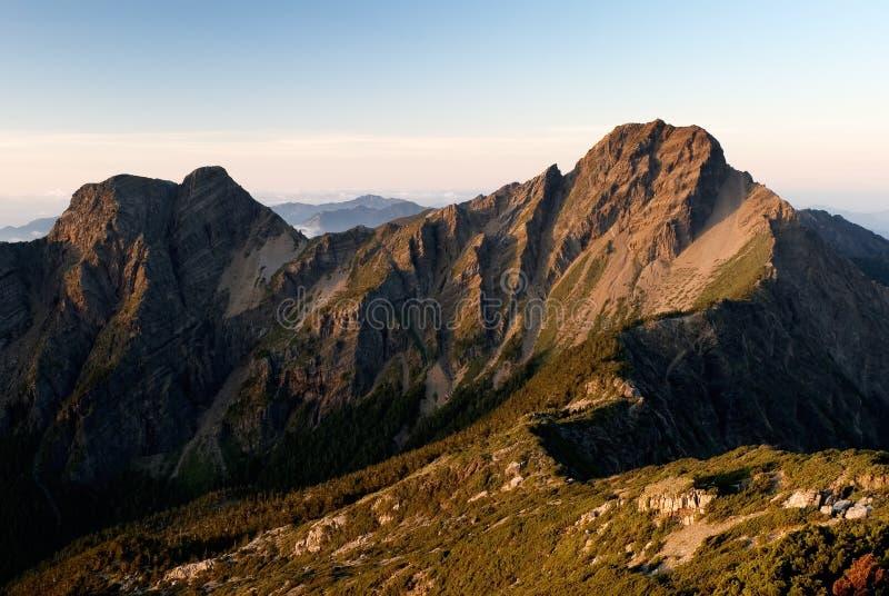 A montanha a mais elevada de East Asia - Mt. Yushan fotos de stock royalty free