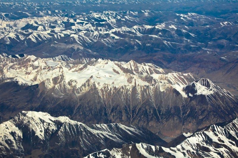 Montanha nepal de Himalaya fotografia de stock
