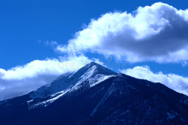 Montanha nevado 13 imagem de stock