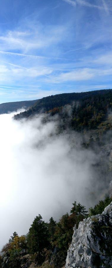 Montanha no ar foto de stock royalty free