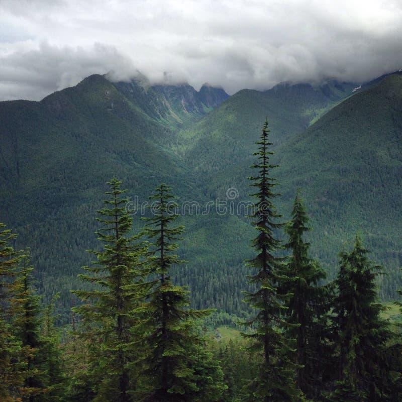 Montanha norte Lanscape das cascatas imagens de stock