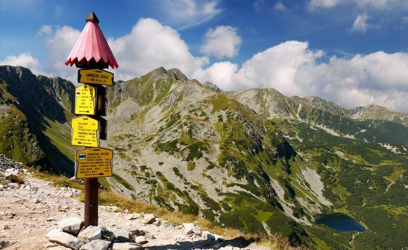 Montanha ocidental de Tatras foto de stock royalty free