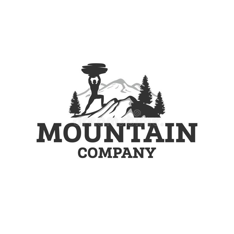 A montanha ostenta projetos do logotipo ilustração royalty free