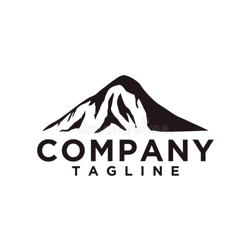Montanha ou monte ou vetor máximo do projeto do logotipo O ícone do acampamento ou da aventura, ajardina o símbolo e pode ser usa ilustração royalty free