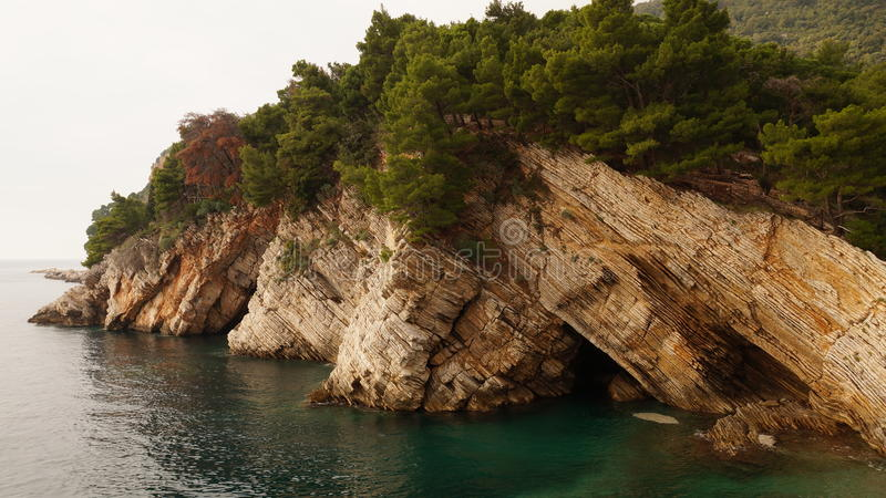 Montanha Petrovac Montenegro imagem de stock royalty free