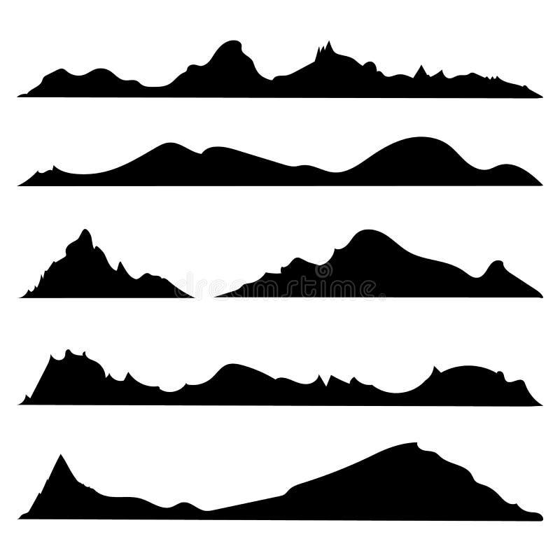 Montanha preto e branco ilustração do vetor