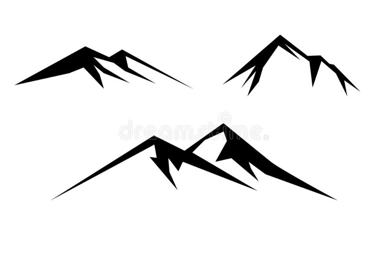 Montanha preto e branco ilustração royalty free