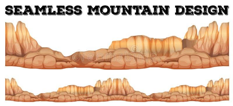 Montanha sem emenda na garganta ilustração stock