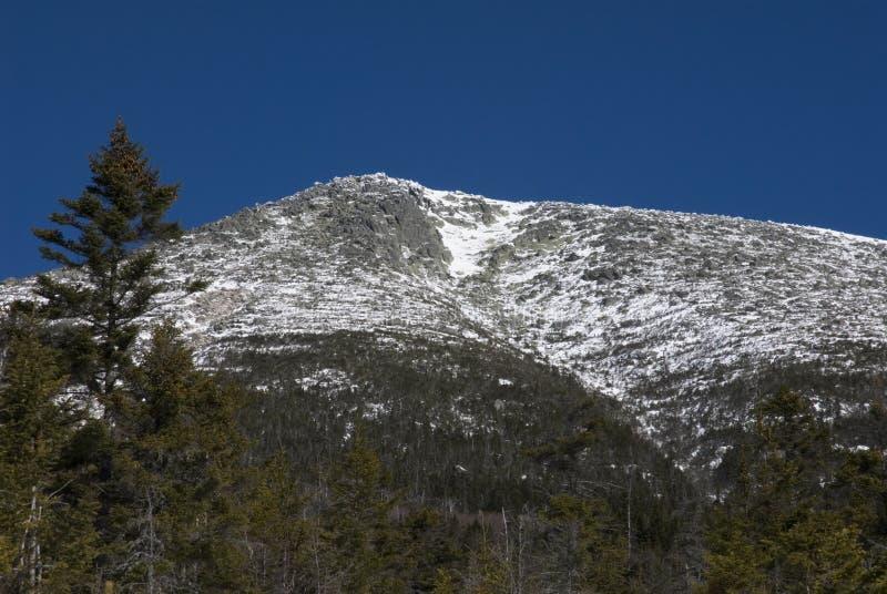 Montanha tampada neve de Maine imagens de stock