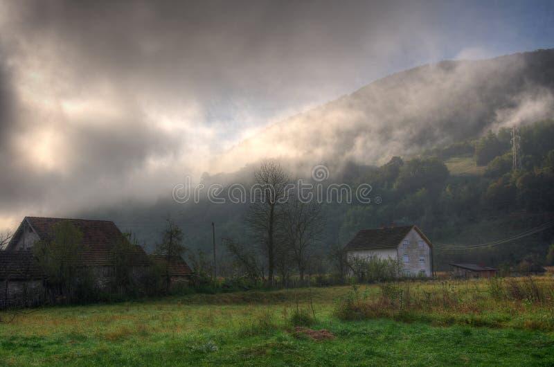 Montanha Tara, Sérvia ocidental - imagem do outono fotos de stock royalty free