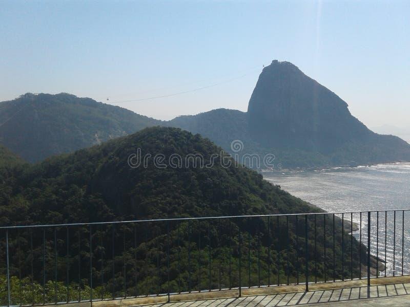 Montanha Urca Duque de Caxias Forte Leme Rio de Janeiro Paisagem Brasil fotografia de stock royalty free