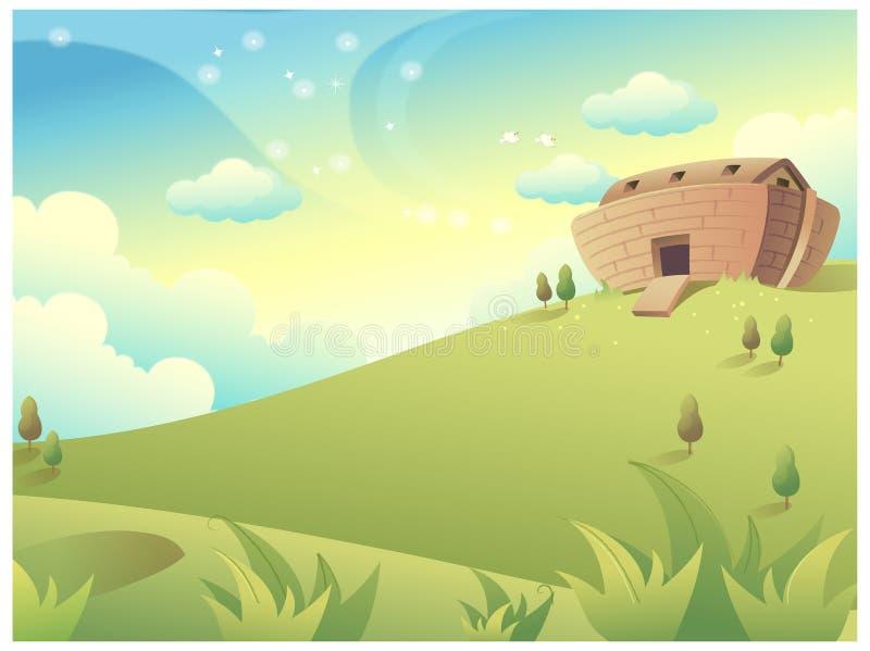 Montanha verde ilustração royalty free