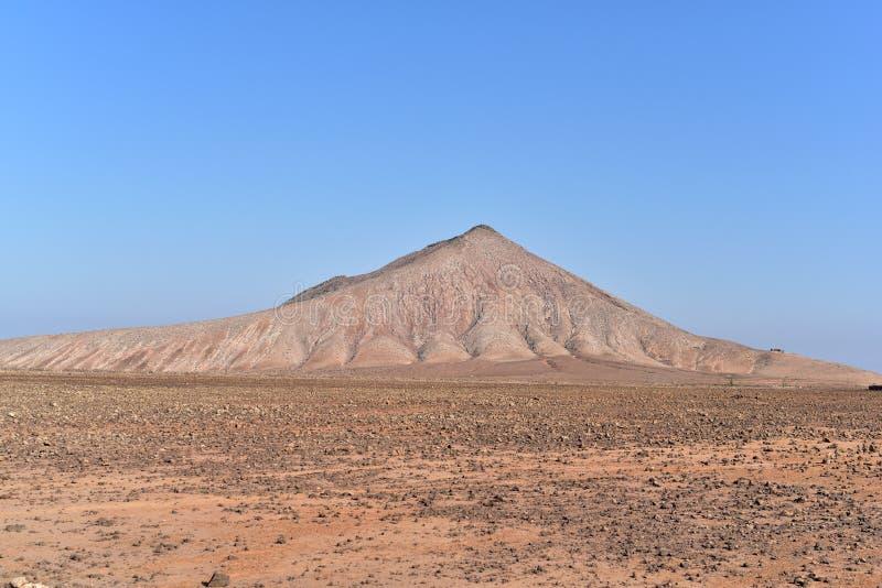 Montanha vermelha, Fuerteventura fotografia de stock