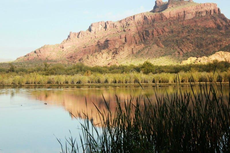 Montanha vermelha o Arizona fotografia de stock