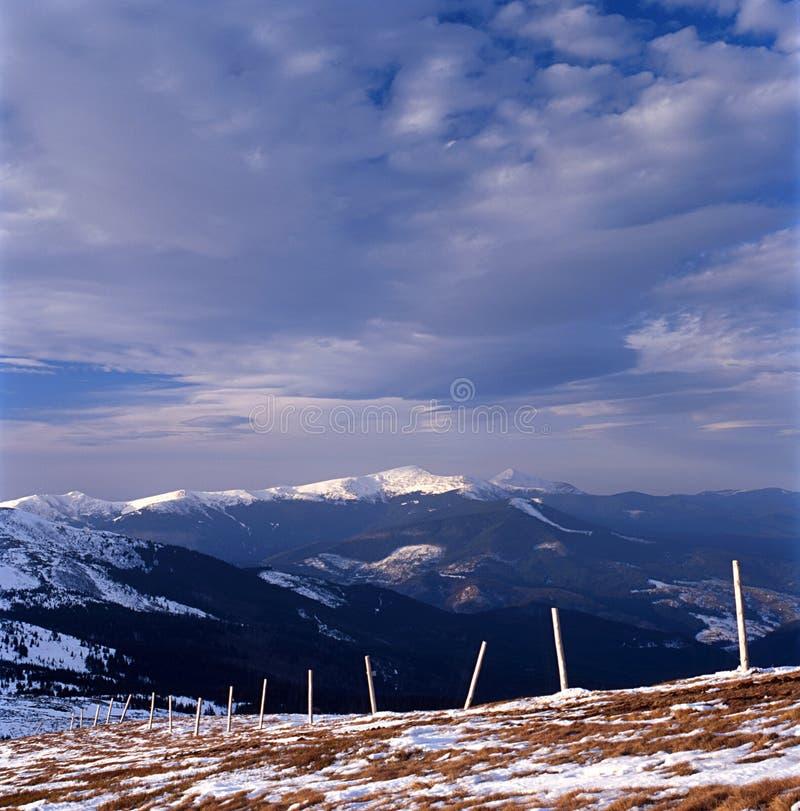 Montanha Winter-1 fotos de stock