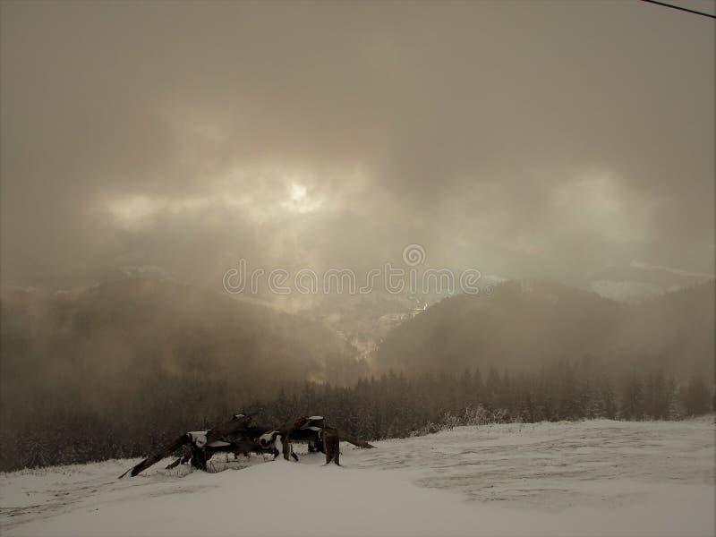 Montanha Zahar Berkut foto de stock
