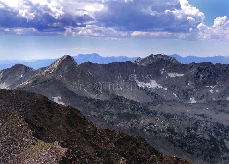 montanhas alpinas do cume foto de stock royalty free