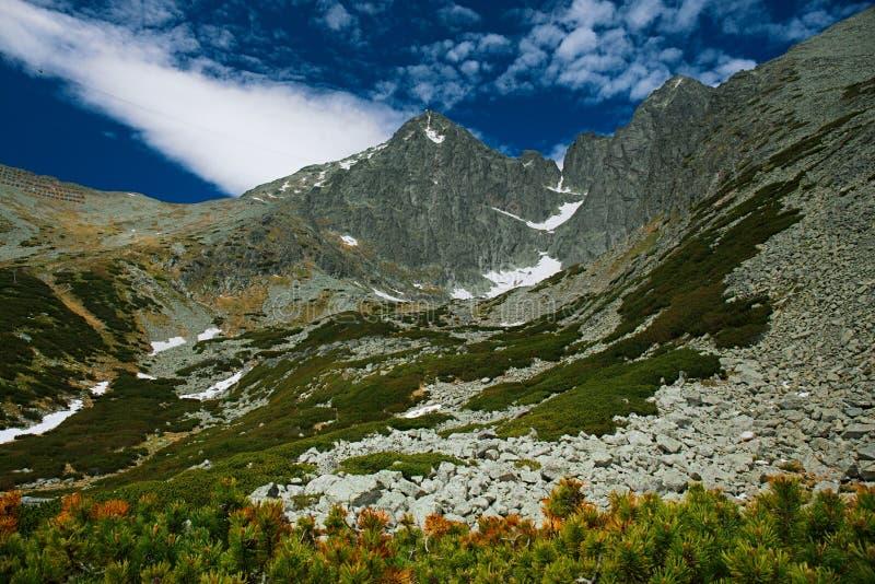 Montanhas altas máximas de Lomnica Tatras de Eslováquia fotografia de stock