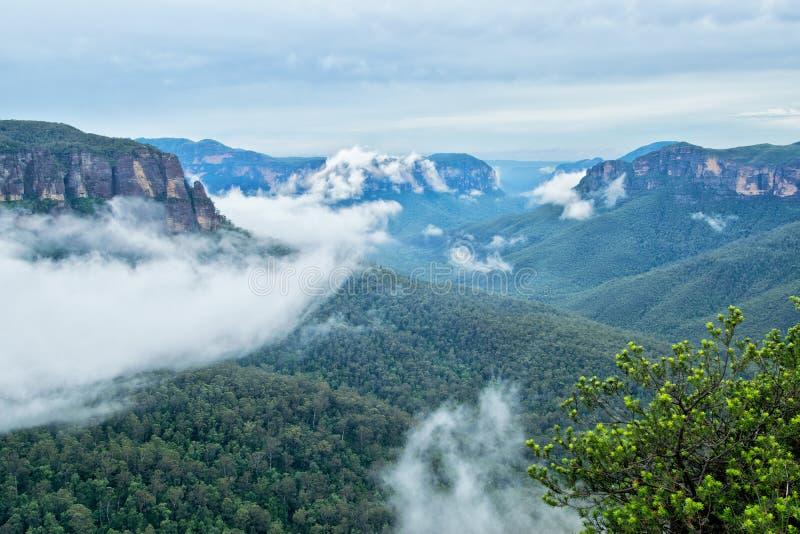 Montanhas azuis em Austrália fotos de stock royalty free
