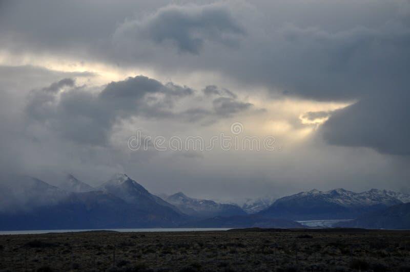 Montanhas bonitas no Patagonia, Argentina imagem de stock