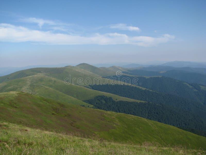Montanhas Carpathian, o oeste de Ucrânia imagem de stock royalty free