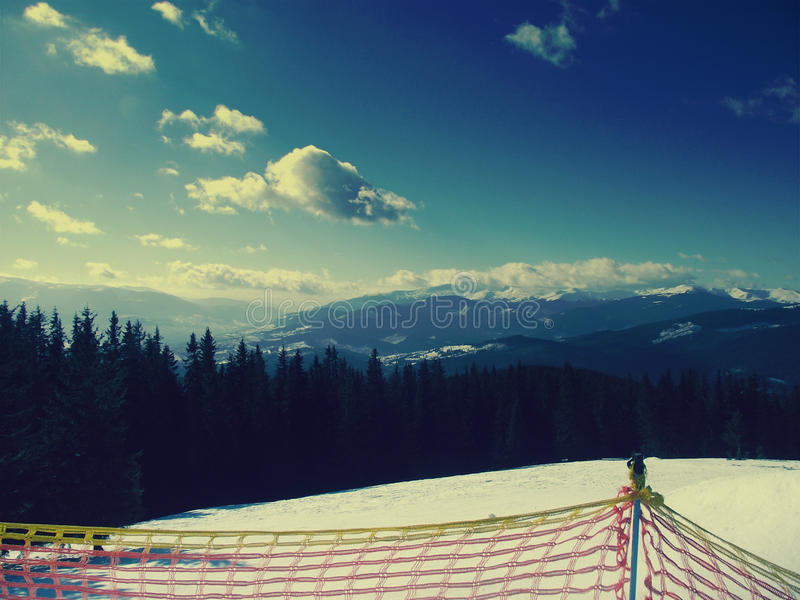 Montanhas Carpathian ucrânia férias Mil árvores Elevação e brilho Paz Amor imagem de stock