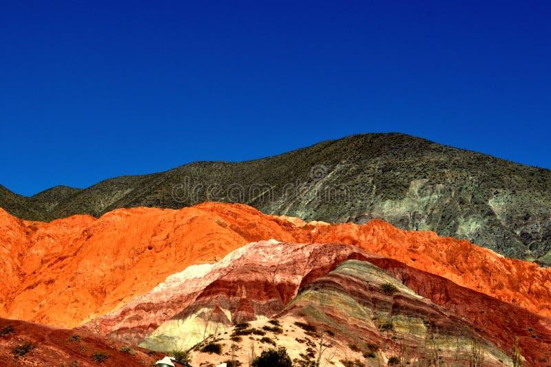 Montanhas coloridas fotos de stock royalty free