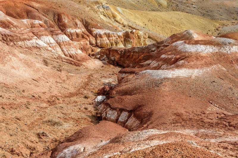 Montanhas coloridas da textura da rocha do fundo fotografia de stock