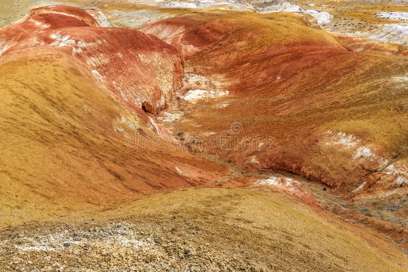 Montanhas coloridas da textura da rocha do fundo fotos de stock royalty free