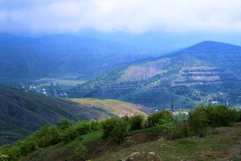 Montanhas crimeanas, Crimeia fotos de stock royalty free