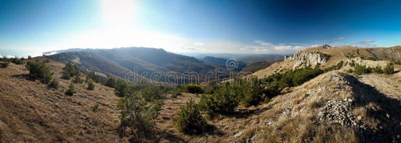 Montanhas crimeanas ucranianas fotografia de stock royalty free