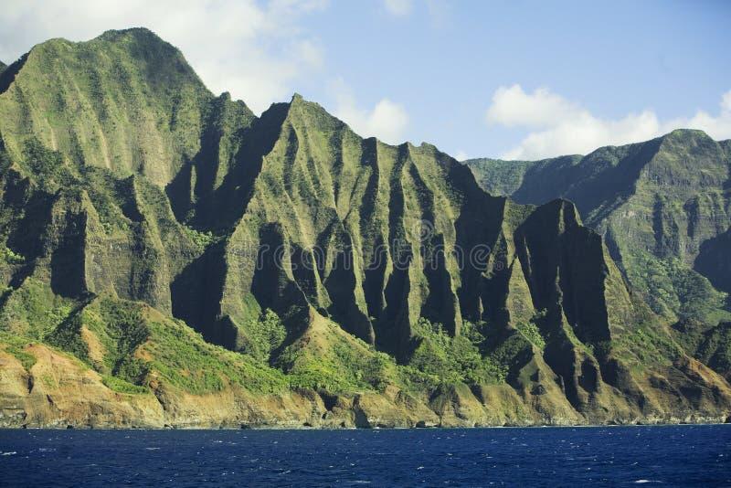 Montanhas da costa do Na Pali foto de stock