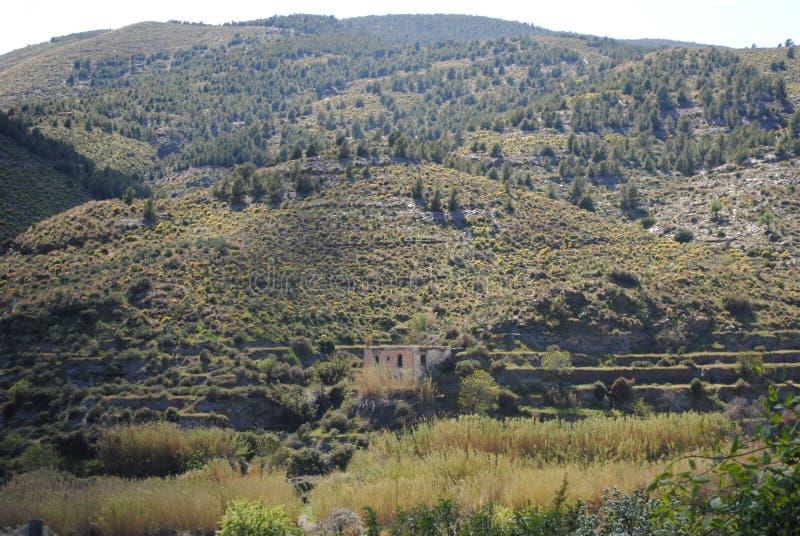 Montanhas da Espanha do sul imagem de stock