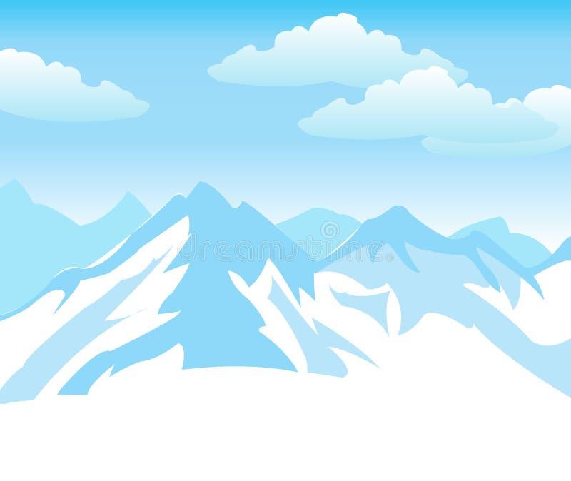 Montanhas da neve fotografia de stock