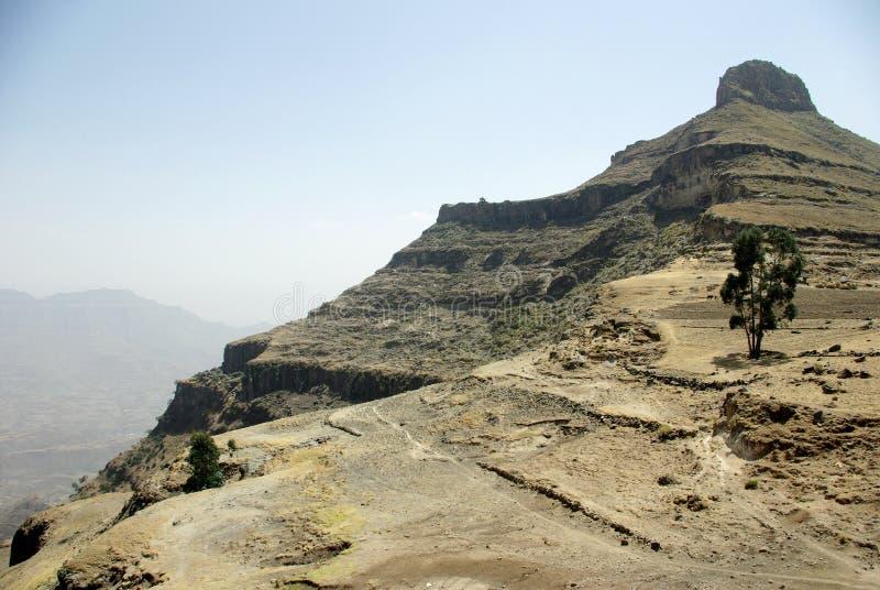 Montanhas de Abune Yosef, Etiópia fotografia de stock
