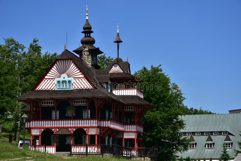 Montanhas de Beskydy na república checa, lugar das férias de Radhost foto de stock