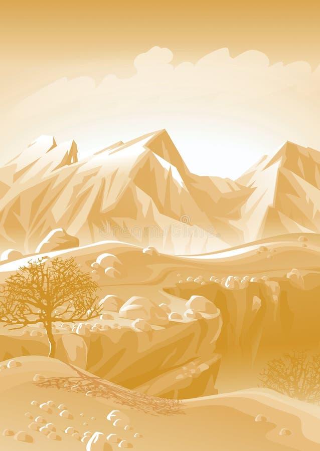 Montanhas de Cáucaso. ilustração royalty free