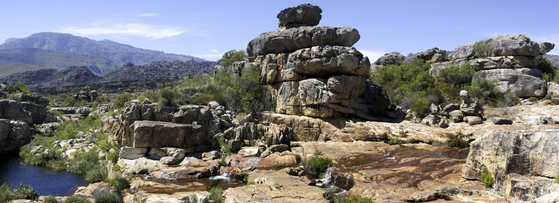 Montanhas de Cederberg de África do Sul imagens de stock royalty free