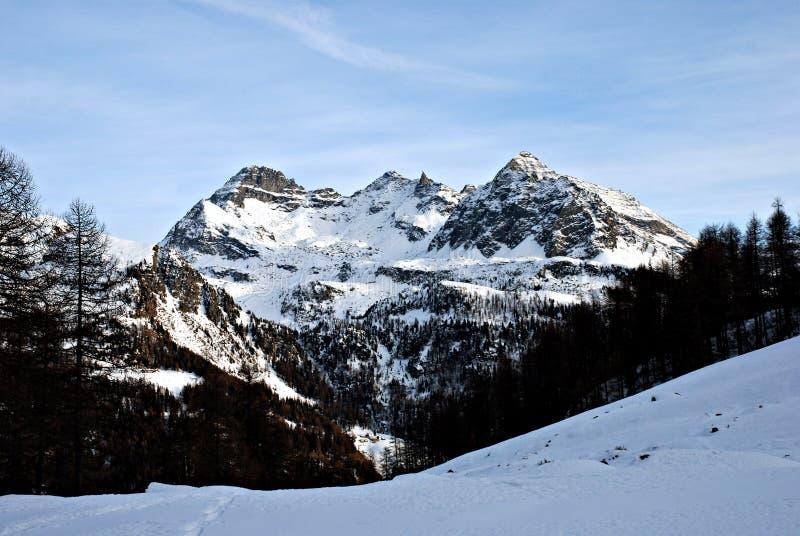 Montanhas de Champoluc imagens de stock royalty free
