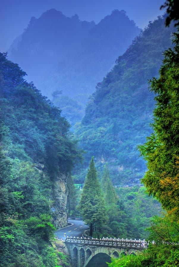 Montanhas de China Wudang fotografia de stock royalty free