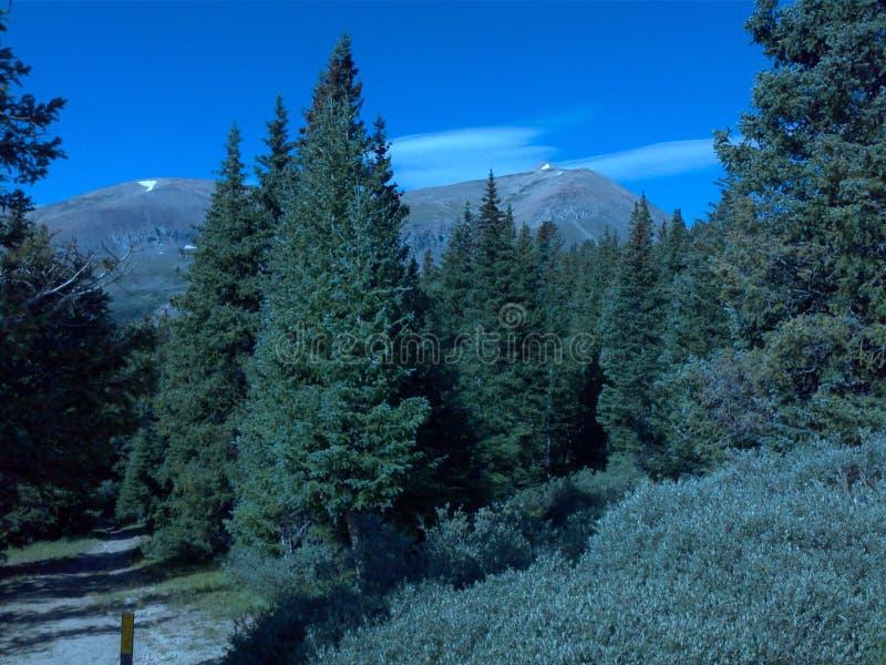 Montanhas de Colorado da passagem do loveland da partilha continental imagens de stock