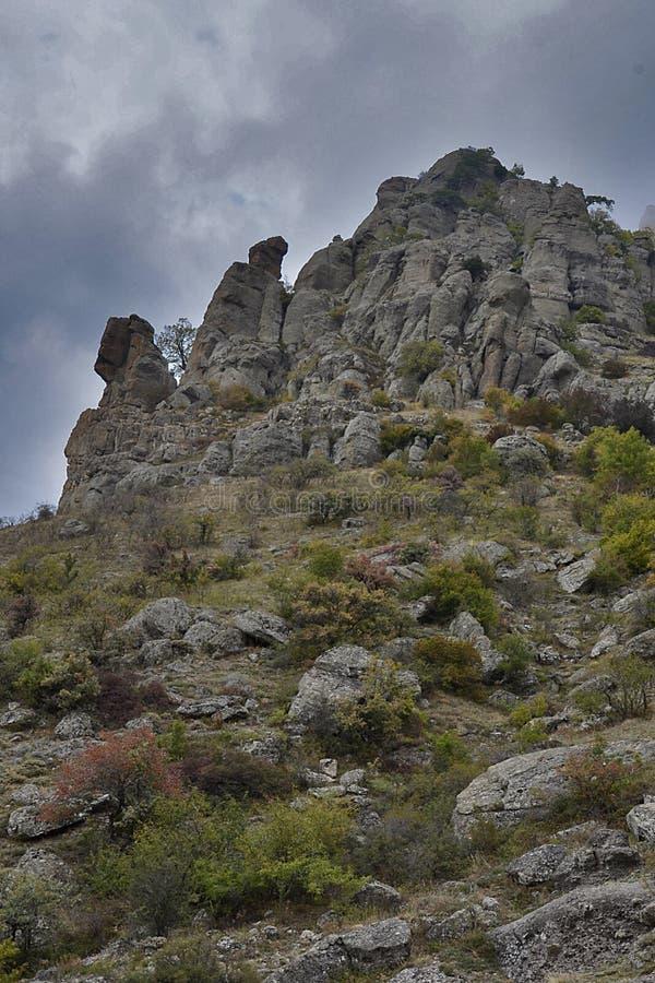 Montanhas de Crimeia imagens de stock