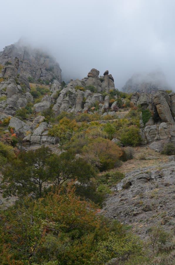 Montanhas de Crimeia fotografia de stock royalty free