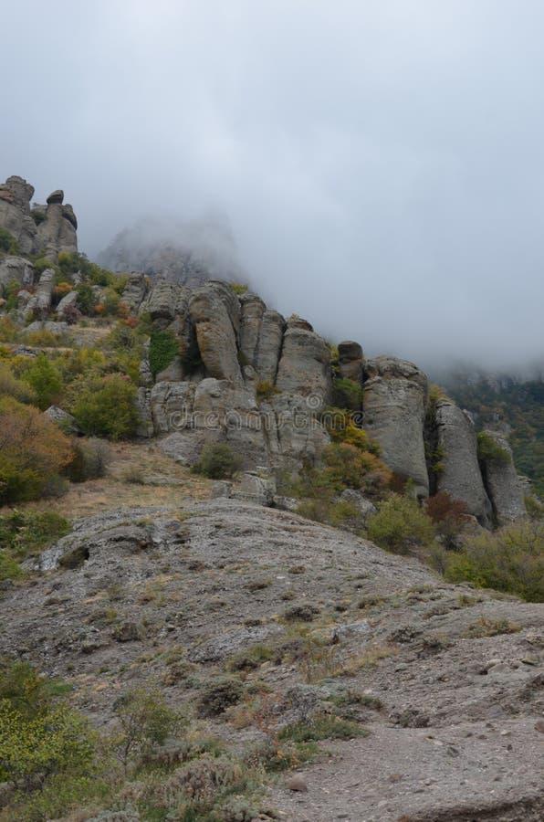 Montanhas de Crimeia fotos de stock royalty free
