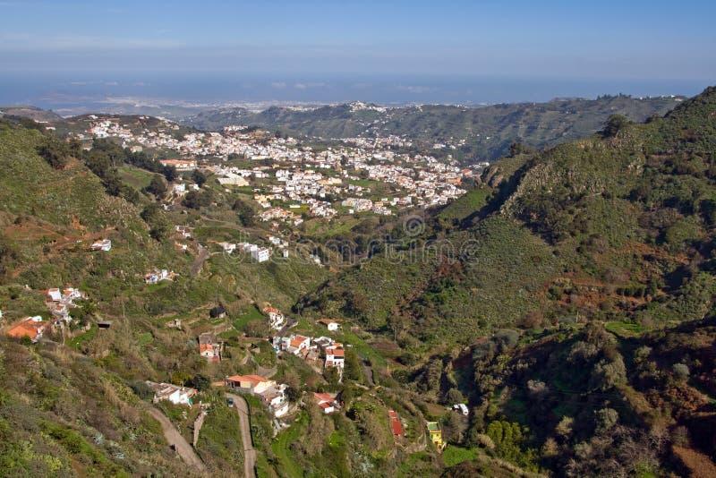 Montanhas de Gran Canaria imagens de stock